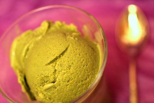 Spiced Green Tea and White Chocolate Ice Cream