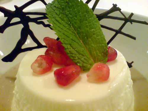 Caminetto panna cotta
