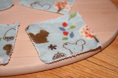 Cotton flannel close-up