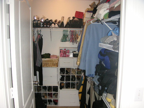 the walk-in closet, which i am trying SO hard to keep organized