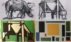 Theo van Doesburg. Composición. Diagrama del proceso art�stico.
