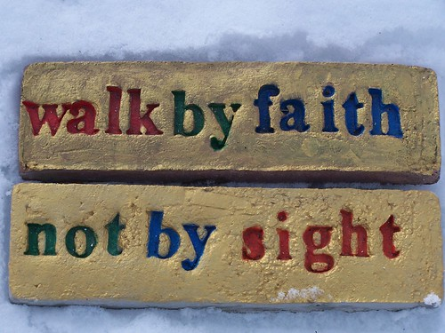 Walk by Faith and Not by Sight by Heart Windows Art.