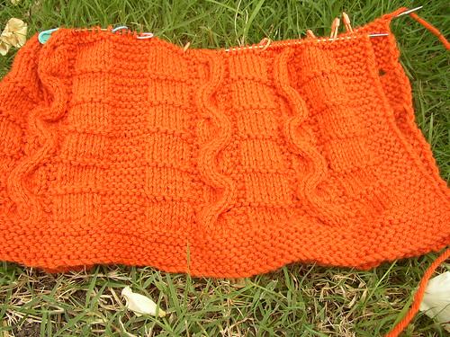 orange sweater six inches