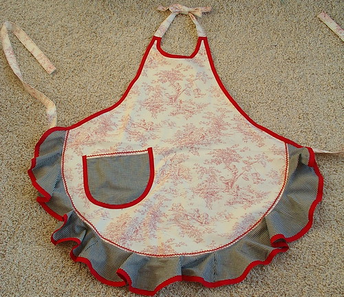 toile apron made by aunt george
