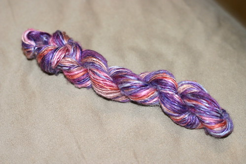 Handspun from silk hankies