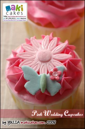 Pink Wedding Cupcake - Swirl