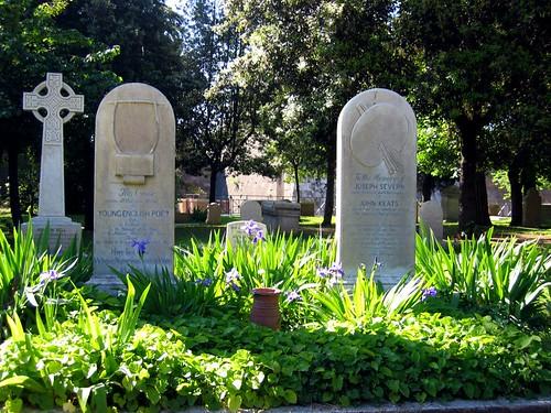 John Keats grave.