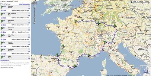 3,000 km : 9 days