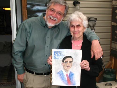 nan draws obama
