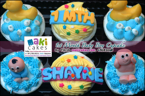 1st Month Baby Cupcakes_ - Maki Cakes