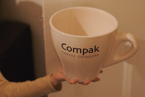 Large cup from Compak - WBC Prize