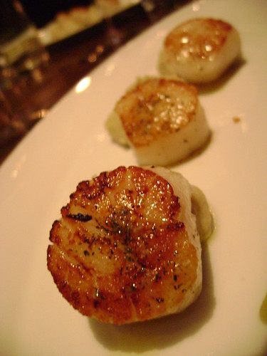 Seared Scallops with Fennel Puree and Orange Dressing
