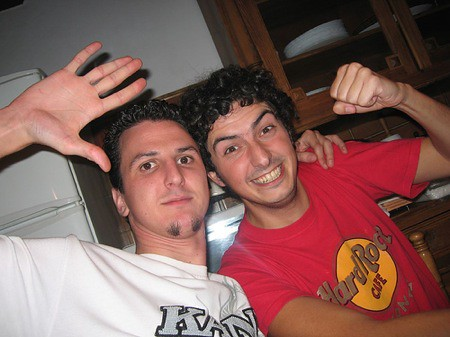 Edu y yo en la casa de Nava