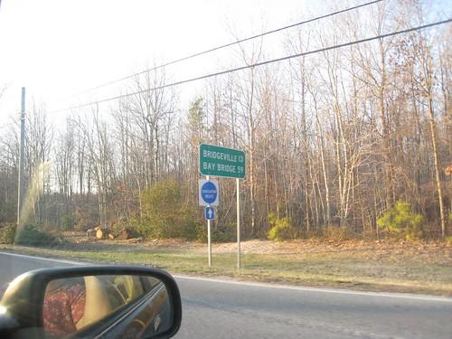 13 miles to Bridgeville!