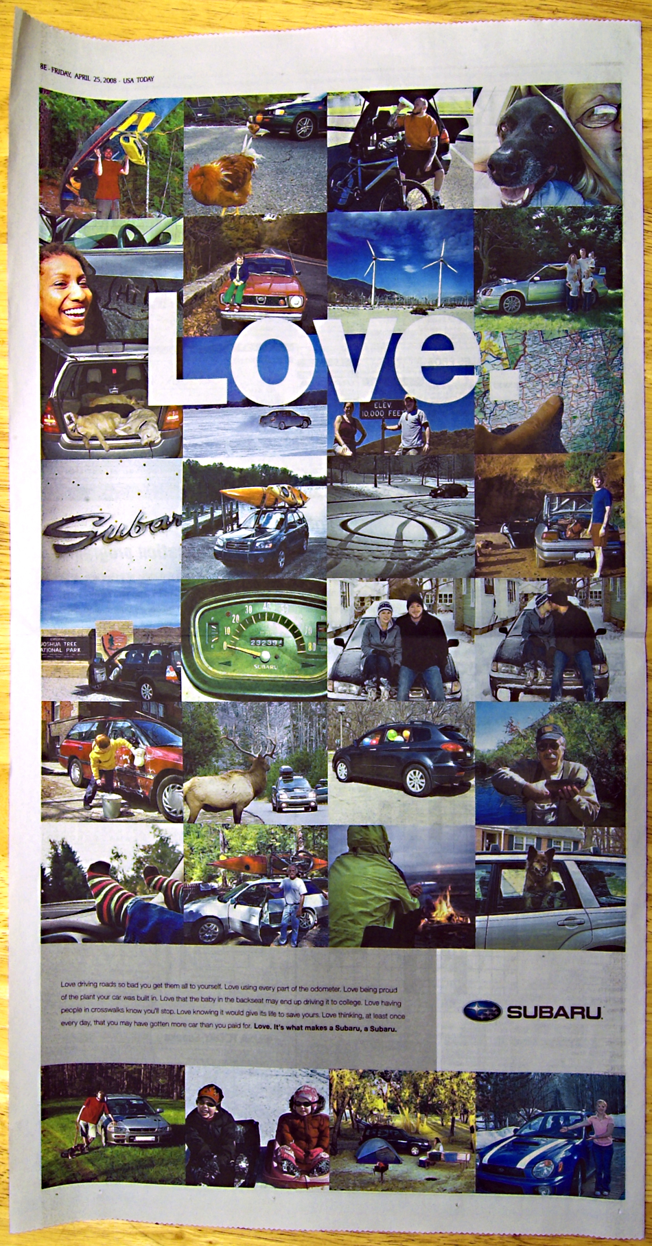 Love.Its what makes a Subaru, a Subaru.