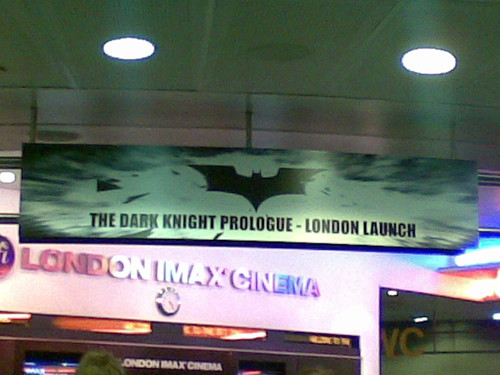 The Dark Knight launch at the London IMAX