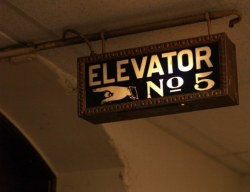 Illuminated Sign For Elevator Number Five, City Hall Sixth Floor (Philadelphia, PA) by takomabibelot.