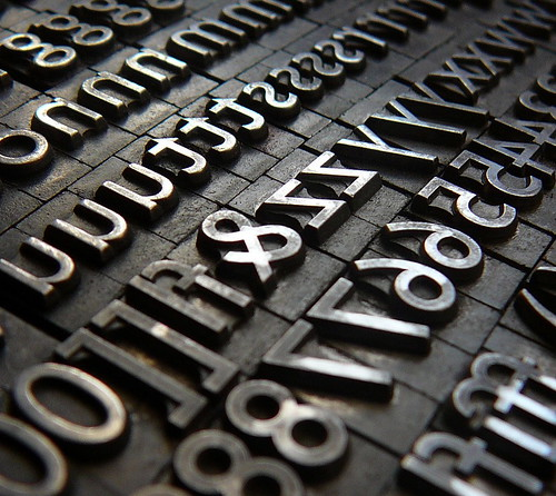 metal letterpress type blocks
