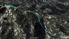 Imagen Google Earth con el track GPS