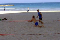 2-on-2 beach volleyball