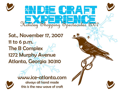 Indie Craft Experience Holiday Shopping Spectacular 2007