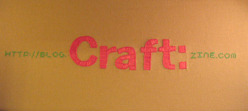 Craft URL embroidery
