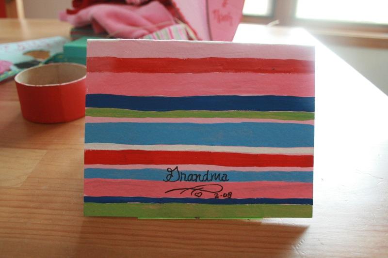 Grandma makes the prettiest cards