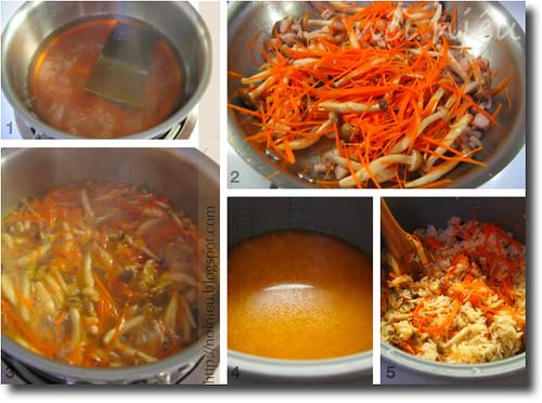 Japanese style mixed rice method