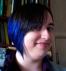 blue hair front