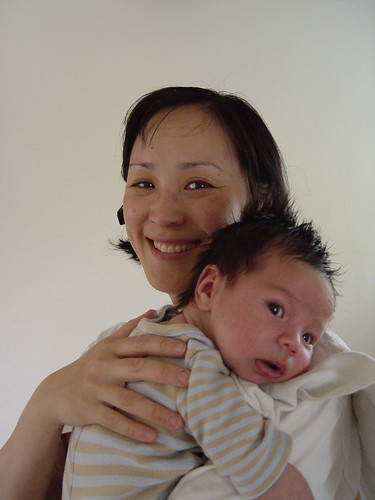 Steve with Auntie Angela.