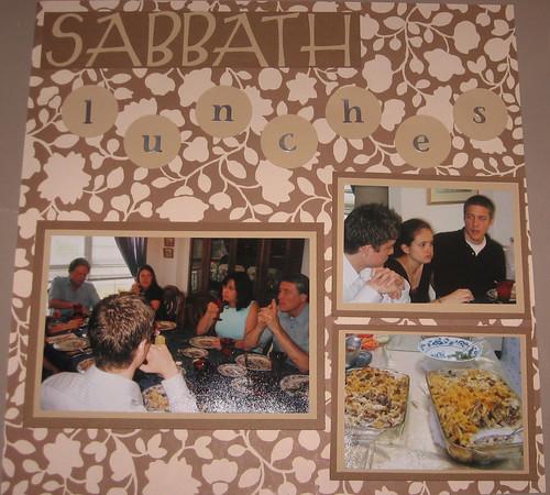 sabbath lunch