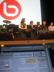 Bebo Open Media launch panel