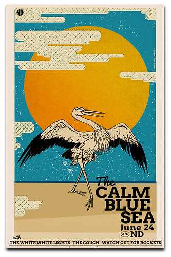 Gigposter for The Calm Blue Sea and White White Lights