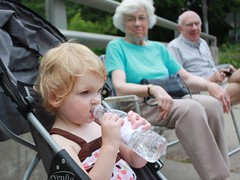Claire watching the Ivoryton Fourth of July parade