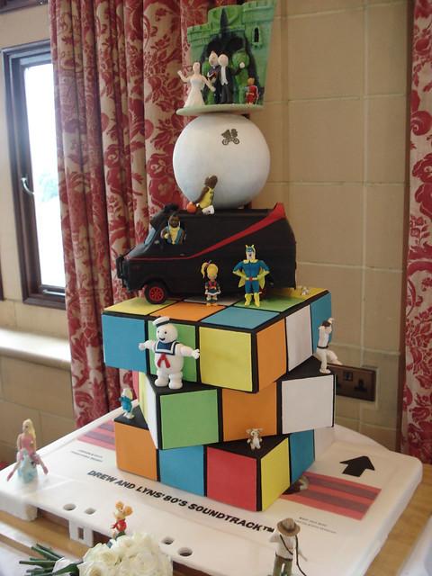 80's Themed Wedding Cake - Full View 1