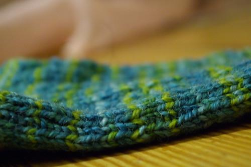 closeup of wonky stitches