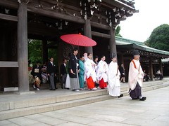 Wedding procession in the Imperial Palace in Tokyo