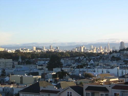 San Francisco on Christmas Eve morning