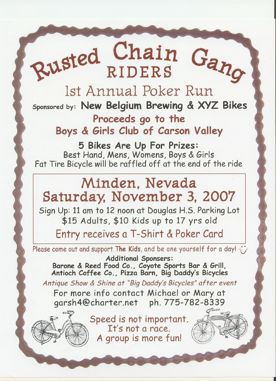 rusted chain gang poker run