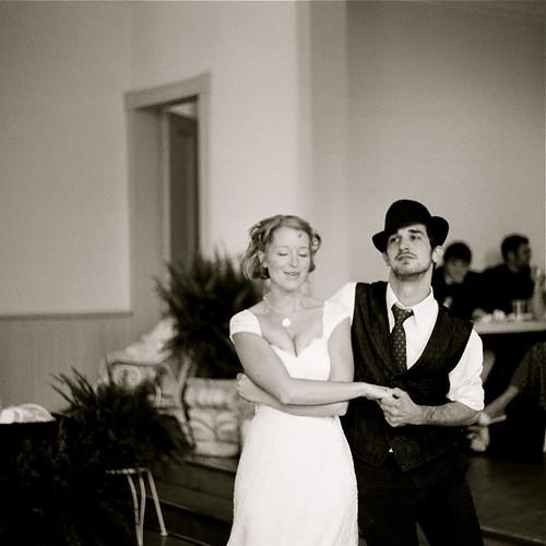 Andrew and Megan dancing