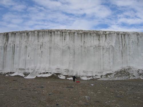 Breana in front of Howard Glacier