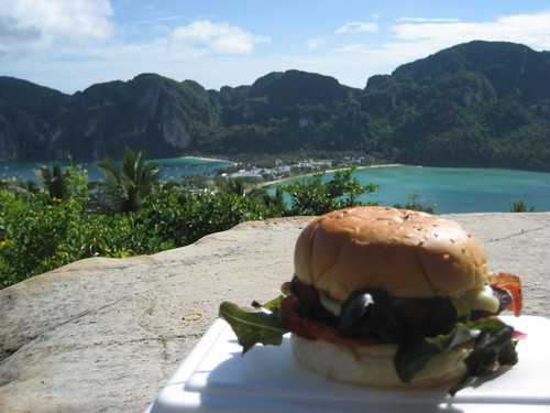 Bacon Cheeseburger on Ko Phi Phi