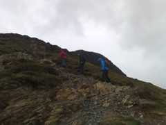 Up to the summit of CatBells