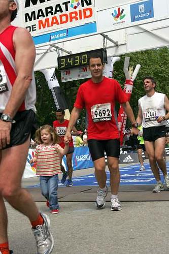 Entrando en la meta del maratón