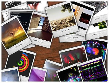 flickr flash polaroid viewer