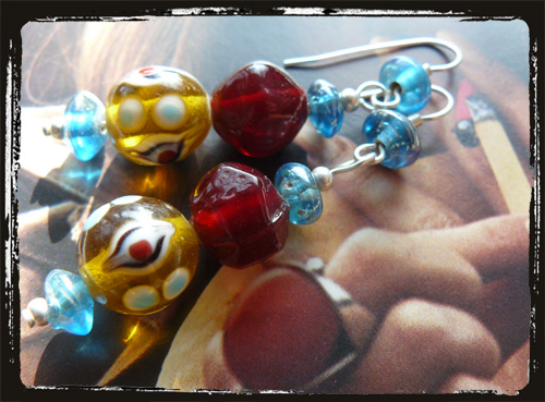 Orecchini fatti a mano multicolore - Handmade Earrings MEHCTGR