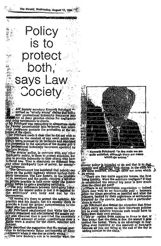 Policy is to protect both says Law Society - Kenneth Pritchard