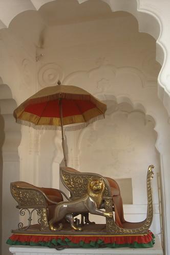 Meherangarh Fort 1-62國王轎椅