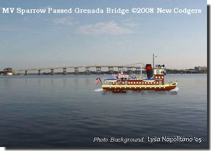 MV Sparrow Passed Grenada Bridge ©2008 New Codgers