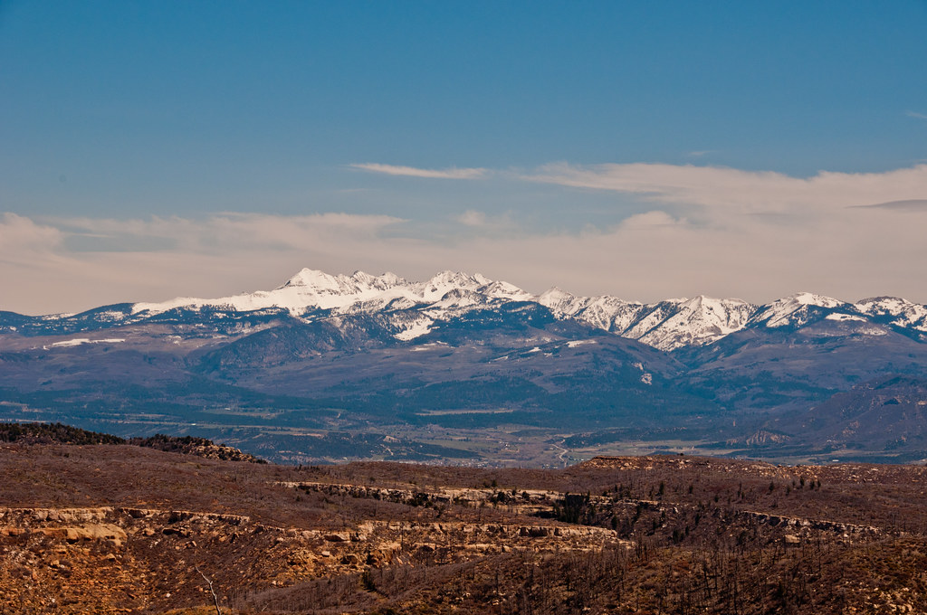 Distant mountains, viewed from Mesa Verde NP